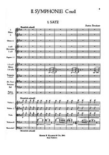 Symphony No.2 in C Minor, WAB 102: partitura completa by Anton Bruckner