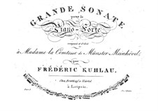 Grand Sonata for Piano, Op.8a: para um único musico (Editado por H. Bulow) by Friedrich Kuhlau