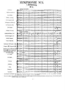 Symphony No.3 in D Minor: partitura completa by Gustav Mahler