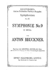 Symphony No.9 in D Minor, WAB 109: partitura completa by Anton Bruckner