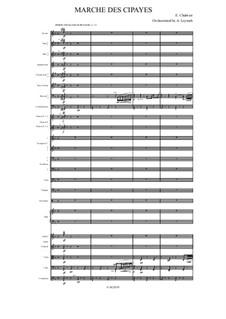 Marche des Cipayes: para orquestra sinfonica by Emmanuel Chabrier