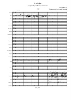 Azulejos: para orquestra sinfonica by Isaac Albéniz