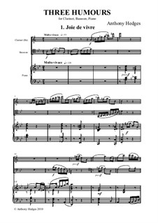 Three Humours, Op.163: Partitura completa by Anthony Hedges