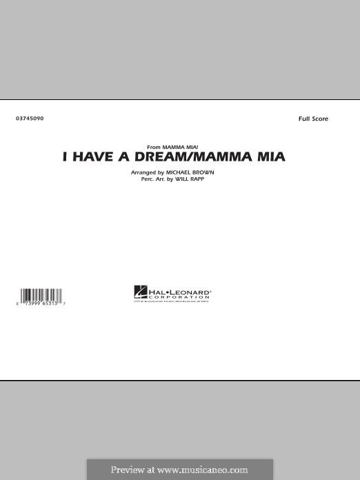 I Have a Dream / Mamma Mia!: Conductor score (full score) by Benny Andersson, Björn Ulvaeus