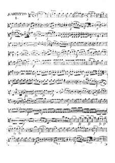 Three Сoncert Quartets for Flute, Violin, Viola and Cello, Op.29: parte viola by Franz Anton Hoffmeister