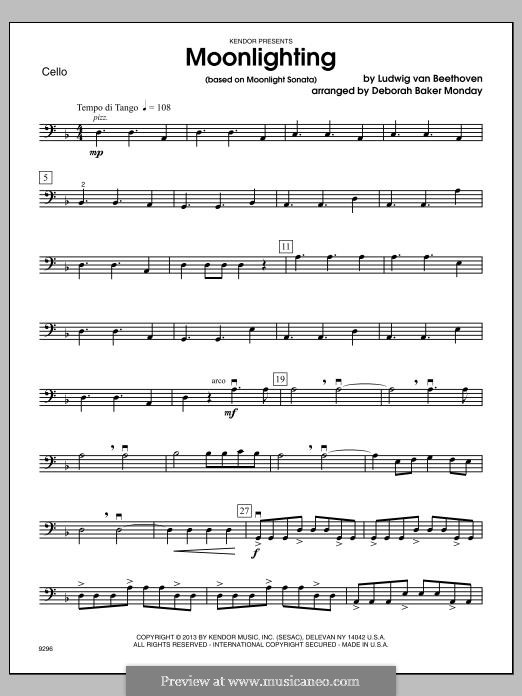 Movement I (Printable scores): parte violoncelo by Ludwig van Beethoven