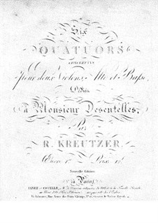 Three Sonatas for Violin and Basso Continuo, Op.1: Partes by Rodolphe Kreutzer
