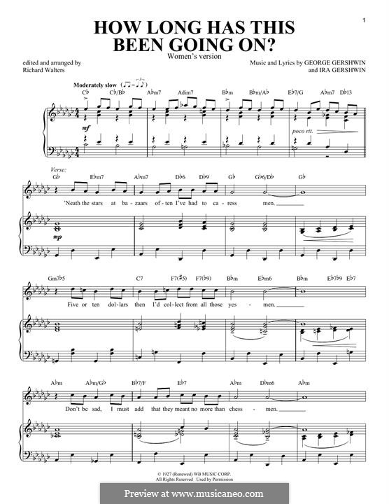 How Long Has This Been Going On?: For voice and piano (Women's version) by George Gershwin