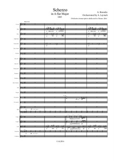 Scherzo in A Flat Major: For symphonic orchestra – score and parts by Alexander Borodin