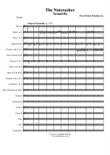 Fragments: Tarantella, for full orchestra by Pyotr Tchaikovsky