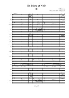En blanc et noir (In Black and White), L.134: For symphonic orchestra – 3rd movement by Claude Debussy