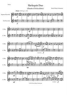 Harlequin Duo (Duetto d'Arlecchino): For soprano and alto recorders by David W Solomons