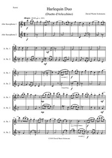 Harlequin Duo (Duetto d'Arlecchino): For 2 alto saxophones by David W Solomons
