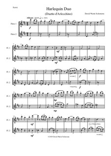 Harlequin Duo (Duetto d'Arlecchino): For 2 flutes by David W Solomons