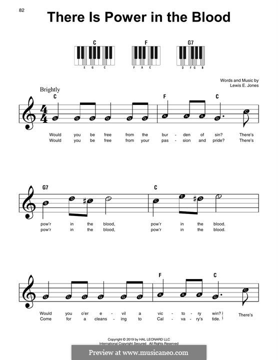 There Is Power in the Blood: Para Piano by Lewis Edgar Jones