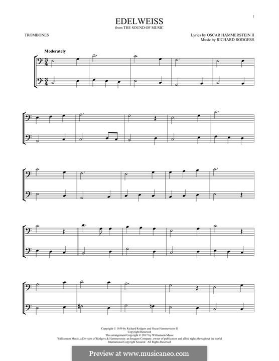 Edelweiss (from The Sound of Music): For two trombones by Richard Rodgers
