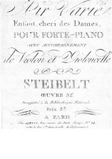 Air varié 'Enfant cheri des Dames', Op.32: parte violoncelo by Daniel Steibelt