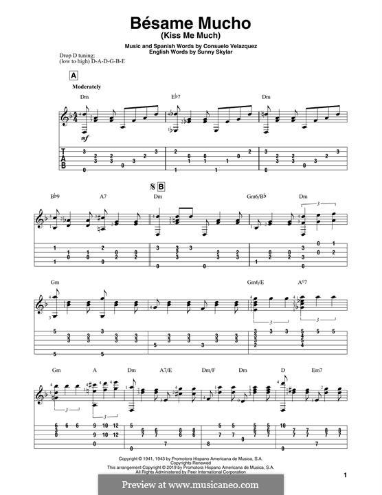 Besame Mucho (Kiss Me Much): Para Guitarra by Consuelo Velazquez