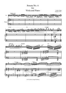 Sonata No.4 for Viola and Piano: Sonata No.4 for Viola and Piano by Jordan Grigg