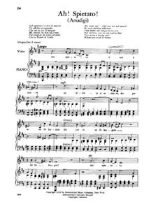 Amadigi di Gaula, HWV 11: Ah! Spietato! Low Voice by Georg Friedrich Händel