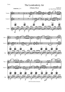 Ensemble version: For two violins and guitar by folklore