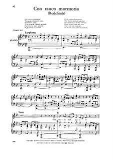 Rodelinda, HWV 19: Con rauco mormorio, Low Voice by Georg Friedrich Händel