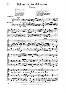 Otto, King of Germany, HWV 15: Del minacciar del vento, Low Voice by Georg Friedrich Händel