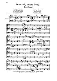 Rodelinda, HWV 19: Dove sei, amato bene, Low Voice by Georg Friedrich Händel