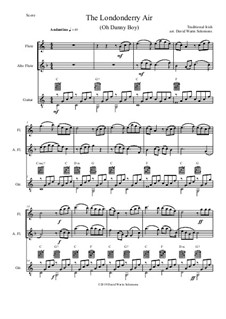 Danny Boy (Londonderry Air): For flute, alto flute and guitar by folklore