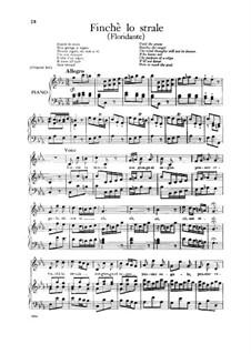 Floridante, HWV 14: Finche lo strale, Low Voice by Georg Friedrich Händel