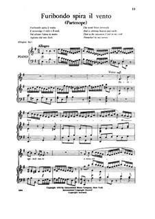 Furibondo spira il vento, Low Voice: Furibondo spira il vento, Low Voice by Georg Friedrich Händel