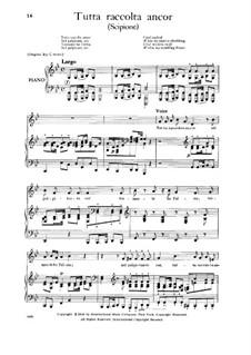 Scipione, HWV 20: Tutta raccolta ancor, Low Voice by Georg Friedrich Händel