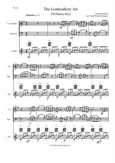 Danny Boy (Londonderry Air): For cor anglais, bassoon and guitar by folklore