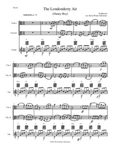 Danny Boy (Londonderry Air): For 2 violas and guitar by folklore