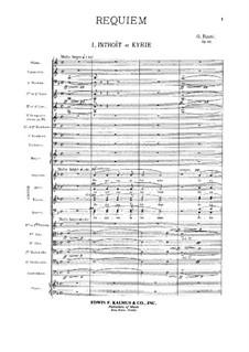 Requiem in D Minor, Op.48: Full score by Gabriel Fauré