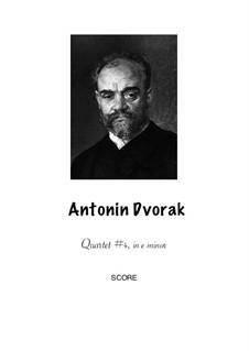 String Quartet No.4 in E Minor, B.19: Version for flute, clarinet, bassoon and horn by Antonín Dvořák