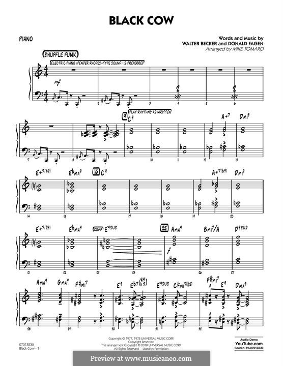 Black Cow (Steely Dan): parte piano by Donald Fagen, Walter Becker