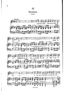 No.2 Freisinn (Laissez-moi gaiement monter en selle): gravação piano-vocal (texto alemão) by Robert Schumann