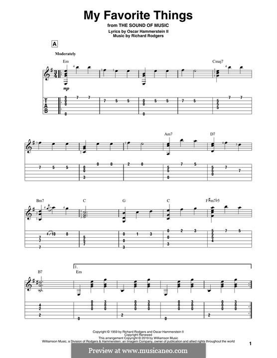 My Favorite Things (from The Sound of Music): Para Guitarra by Richard Rodgers