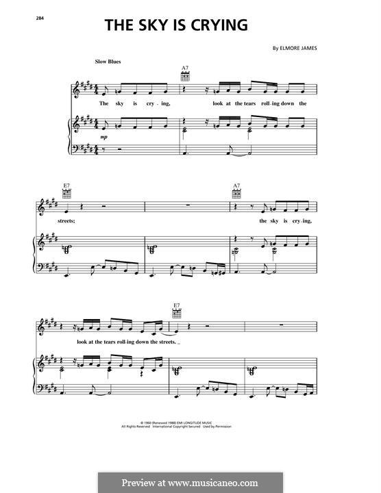 The Sky Is Crying: Para vocais e piano (ou Guitarra) by Elmore James
