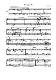 Dialogues for piano: Dialogue 3, MVWV 1303 by Maurice Verheul