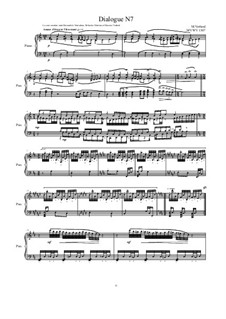 Dialogues for piano: Dialogue 7, MVWV 1307 by Maurice Verheul