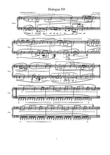 Dialogues for piano: Dialogue 9, MVWV 1309 by Maurice Verheul