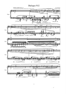 Dialogues for piano: Dialogue 12, MVWV 1312 by Maurice Verheul