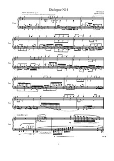 Dialogues for piano: Dialogue 14, MVWV 1314 by Maurice Verheul
