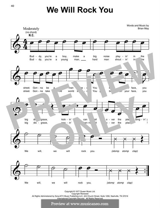 We Will Rock You (Queen): Para Piano by Brian May