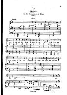No.6 Setze mir nicht, du Grobian (Chansons à boire): gravação piano-vocal (texto alemão) by Robert Schumann