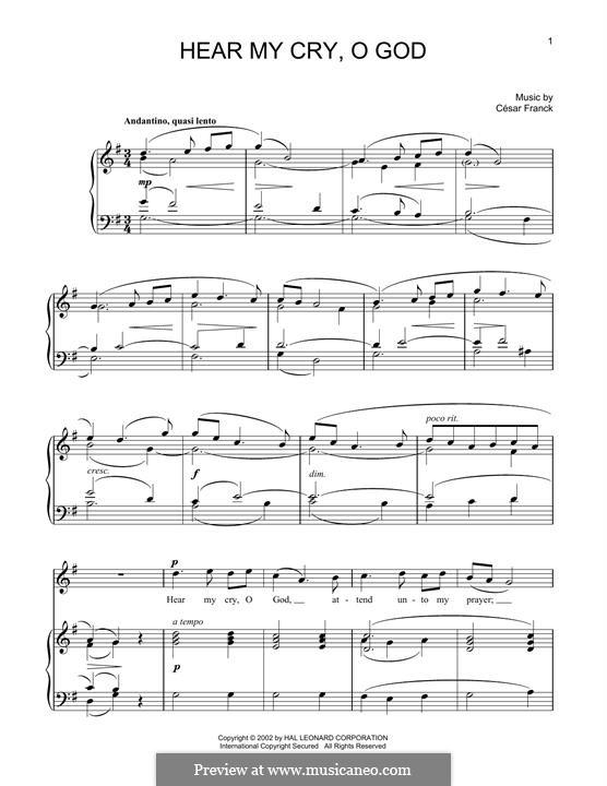 Hear My Cry, O God: Hear My Cry, O God by César Franck