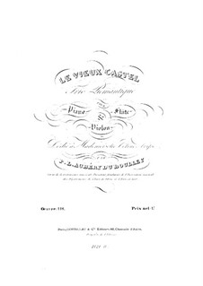 Le vieux castel for Flute, Violin and Piano, Op.116: parte do violino by Prudent Louis Aubéry du Boulley
