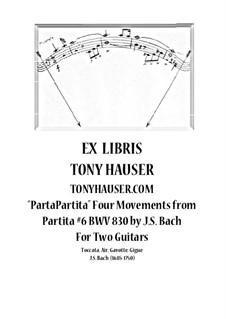 Partita for Keyboard No.6 in E Minor, BWV 830: arranjos para duas guitarras by Johann Sebastian Bach